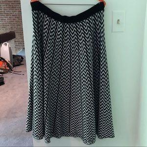 ELOQUII Knit Chevron Skirt